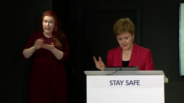 nicola sturgeon press conference august 5th; scotland: edinburgh: st andrew's house: int nicola sturgeon msp opening statement sot - to close today,... - {{relatedsearchurl(carousel.phrase)}} video stock e b–roll