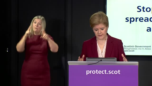 nicola sturgeon press conference december 21st; scotland: edinburgh: int nicola sturgeon msp opening statement sot . - firstly, it is important for... - seed stock videos & royalty-free footage