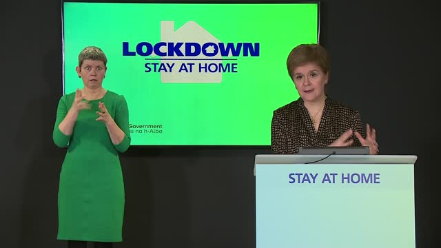 nicola sturgeon press conference february 18th 2021; scotland: edinburgh: int nicola sturgeon msp press conference opening statement sot. - there is... - concentration stock videos & royalty-free footage