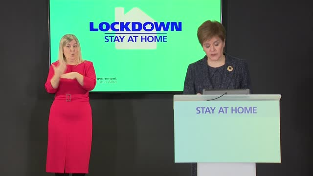 nicola sturgeon press conference february 2nd; scotland: edinburgh: int nicola sturgeon msp press conference opening statement sot part 3 of 3. -... - mountain range stock videos & royalty-free footage