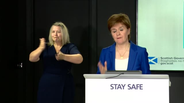 nicola sturgeon press conference july 13th; scotland: edinburgh: st andrew's house: int nicola sturgeon msp press conference statement sot. - i... - {{relatedsearchurl(carousel.phrase)}} video stock e b–roll