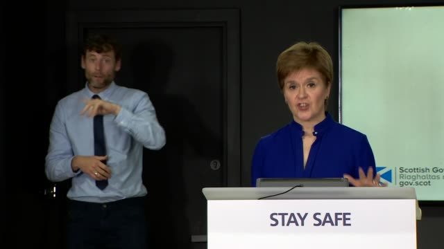 nicola sturgeon press conference july 16th; scotland: edinburgh: st andrew's house: int nicola sturgeon msp press conference opening statement sot... - {{relatedsearchurl(carousel.phrase)}} video stock e b–roll