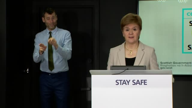 nicola sturgeon press conference july 23rd scotland edinburgh st andrew's house int nicola sturgeon msp press conference opening statement sot... - {{relatedsearchurl(carousel.phrase)}} stock-videos und b-roll-filmmaterial