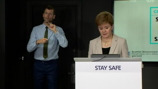 nicola sturgeon press conference july 23rd scotland edinburgh st andrew's house int nicola sturgeon msp press conference opening statement sot so as... - things that go together stock videos & royalty-free footage
