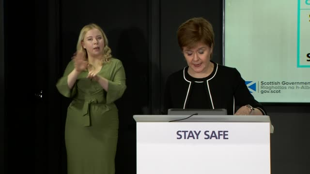 nicola sturgeon press conference july 7th; scotland: edinburgh: st andrew's house: int nicola sturgeon msp arriving / press conference sot. - good... - 18 23 months stock videos & royalty-free footage