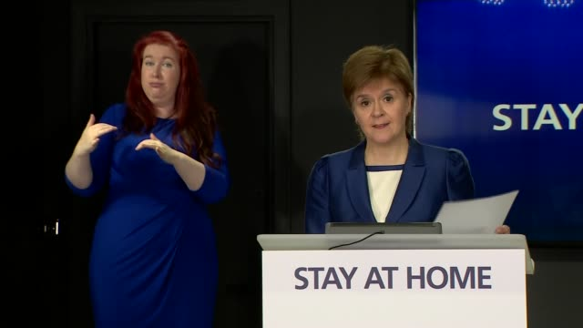 nicola sturgeon press conference june 16th; scotland: edinburgh: int nicola sturgeon msp press conference opening statement sot part 3 of 3. but for... - {{relatedsearchurl(carousel.phrase)}} video stock e b–roll