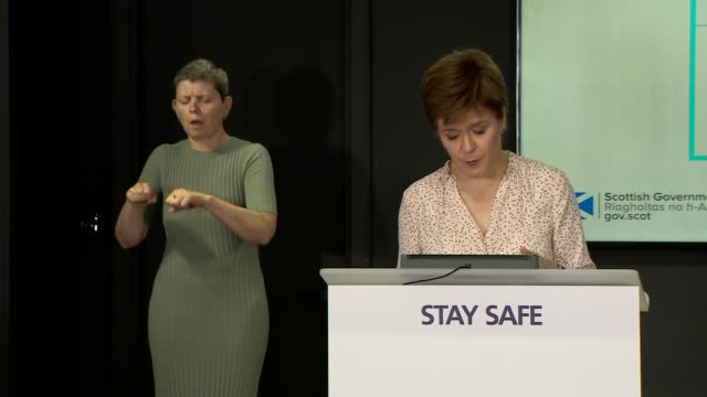 nicola sturgeon press conference june 25th; scotland: edinburgh: int nicola sturgeon msp press conference opening statement sot part 2 of 3. - at... - {{relatedsearchurl(carousel.phrase)}} stock-videos und b-roll-filmmaterial