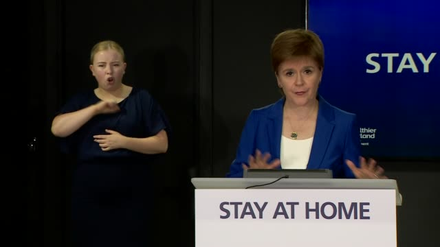 nicola sturgeon press conference june 2nd; scotland: edinburgh: st andrew's house: int nicola sturgeon msp statement sot . -remember to avoid... - st. andrews scotland stock videos & royalty-free footage