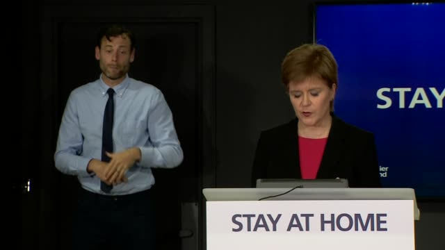 nicola sturgeon press conference june 4th; scotland: edinburgh: st andrew's house: int nicola sturgeon msp statement sot. - one of the areas where we... - single object stock videos & royalty-free footage