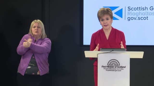 nicola sturgeon press conference march 20th scotland edinburgh int press conference part 2 of 8 nicola sturgeon msp speech sot i want to thank all... - candid stock videos & royalty-free footage