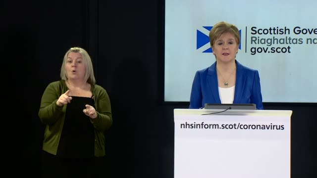 nicola sturgeon press conference march 27th scotland edinburgh int press conference part 2 of 7 nicola sturgeon msp statement sot i want to touch on... - mental wellbeing stock videos & royalty-free footage