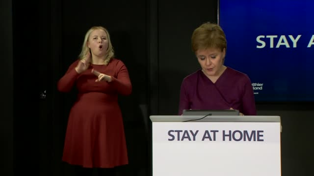 nicola sturgeon press conference may 14th scotland edinburgh st andrew's house int nicola sturgeon msp opening statement sot i mentioned earlier that... - customer service representative stock videos & royalty-free footage