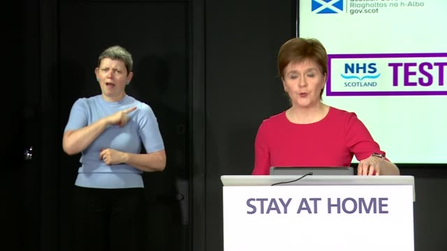 nicola sturgeon press conference may 29th; scotland: edinburgh: nicola sturgeon press conference statement sot . - the second item i want to cover... - single object stock videos & royalty-free footage