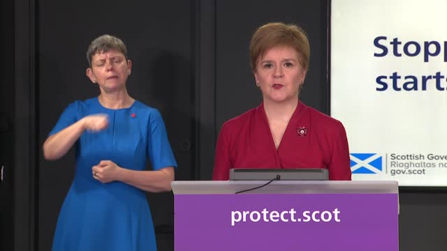 nicola sturgeon press conference november 6th scotland edinburgh st andrew's house int nicola sturgeon msp press conference opening statement sot my... - mental wellbeing stock videos & royalty-free footage