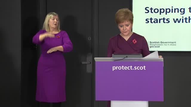 stockvideo's en b-roll-footage met nicola sturgeon press conference november 9th; scotland: edinburgh: nicola sturgeon press statement sot - uk citizens, residents and eu citizens with... - politics