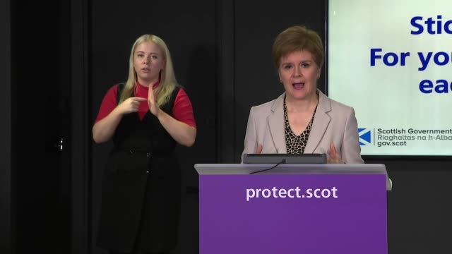nicola sturgeon press conference october 13th; scotland: edinburgh: st andrew's house: int nicola sturgeon msp opening statement sot part 2 of 3. -... - us coin stock videos & royalty-free footage