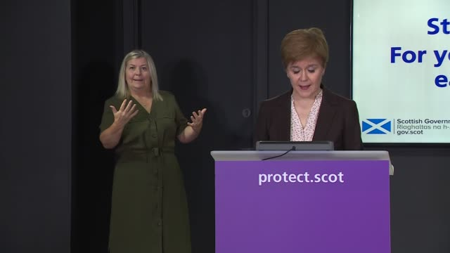 stockvideo's en b-roll-footage met nicola sturgeon press conference october 19th; scotland: edinburgh: st andrew's house: int nicola sturgeon msp press conference sot. - good... - 40 seconds or greater