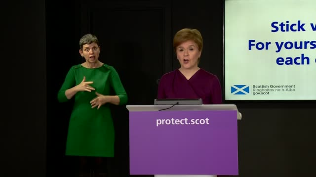 nicola sturgeon press conference october 22nd scotland edinburgh st andrew's house int nicola sturgeon msp arriving into press conference / press... - instrument of measurement stock videos & royalty-free footage