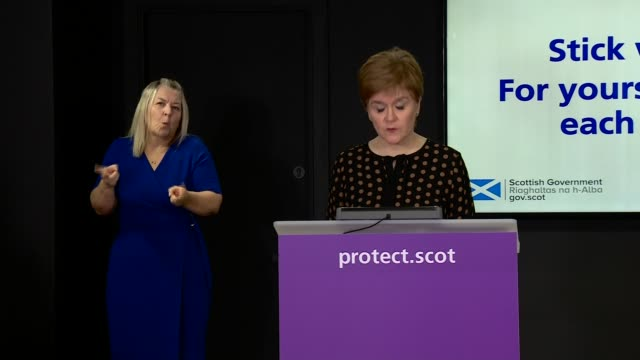 nicola sturgeon press conference october 26th; scotland: edinburgh: st andrew's house: int nicola sturgeon msp press conference opening statement sot... - member of the scottish parliament stock videos & royalty-free footage