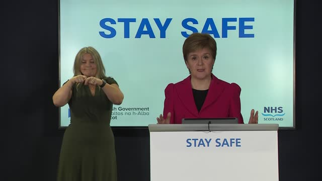 nicola sturgeon press conference; part 2 of 4 scotland: edinburgh: st andrew's house: int nicola sturgeon msp opening statement sot - but the latest... - individuality stock videos & royalty-free footage