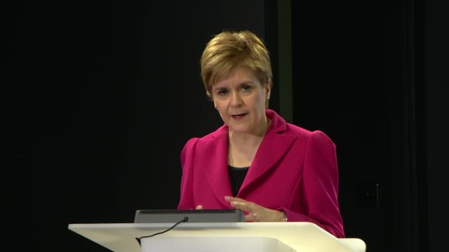 nicola sturgeon press conference scotland edinburgh int nicola sturgeon msp question and answer session sot on ireland's outbreak measures will... - salt water fish stock videos & royalty-free footage