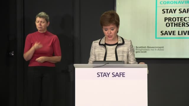 nicola sturgeon press conference scotland edinburgh st andrew's house int nicola sturgeon msp press conference sot now the second issue i want to... - politics stock-videos und b-roll-filmmaterial
