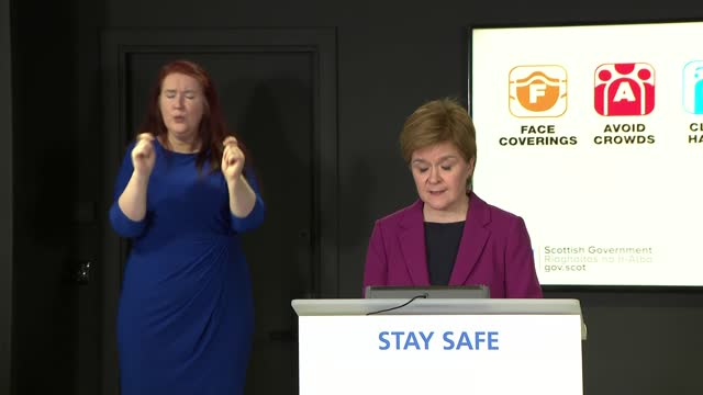 nicola sturgeon press conference; scotland: edinburgh: st andrew's house: int nicola sturgeon msp opening statement sot. - taking all of the recent... - 0 1 months stock videos & royalty-free footage