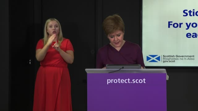 nicola sturgeon press conference september 29th ** 1 of 3 ** scotland edinburgh st andrew's house int nicola sturgeon msp press conference opening... - instrument of measurement stock videos & royalty-free footage