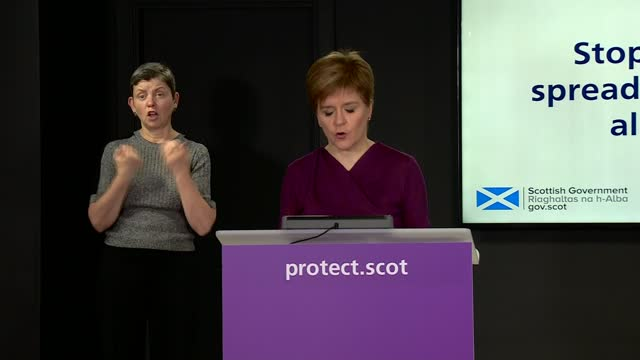 nicola sturgeon press statement november 20th; scotland: edinburgh: int nicola sturgeon msp press statement sot part 4 of 4. - the final point i want... - addition key stock videos & royalty-free footage