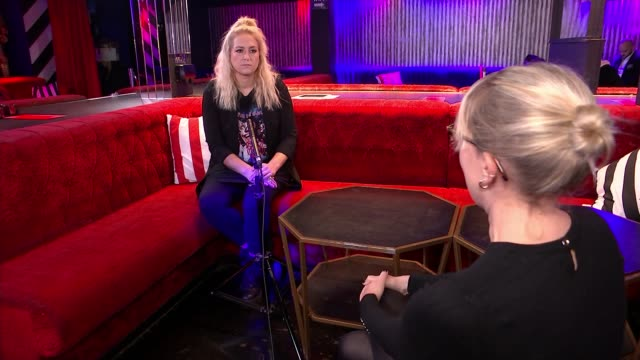 nightclub industry call for financial help england london cirque le soir int various of empty club lizzie west interview as sat with reporter sot... - itv london tonight stock videos & royalty-free footage