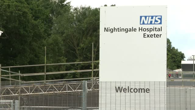 nightingale hospital exeter to start treating covid19 patients england devon exeter nightingale hospital exeter int gvs empty beds on ward gvs nhs... - itv lunchtime news stock videos & royalty-free footage