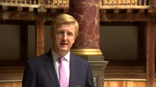 oliver dowden interview; england: london: globe theatre: int oliver dowden mp interview sot. - we've undertaken detailed analysis to see the need... - addition key stock videos & royalty-free footage