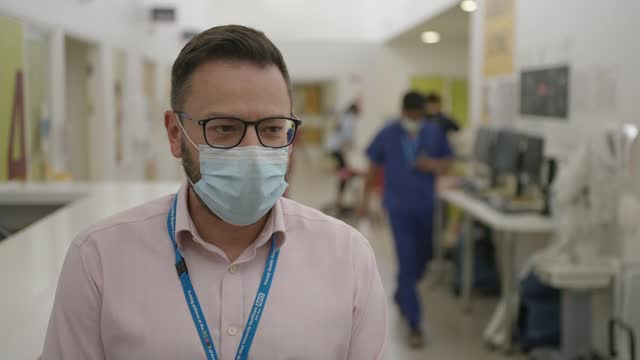 one-in-five hospitalisations in england now aged 18-34: northwick park hospital case study; england: london: harrow: northwick park hospital: int... - nurse stock videos & royalty-free footage
