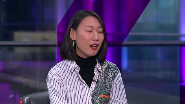 rise in racists incidents against asians in the uk england london gir int sylvia wu and jessie lau live studio interview sot - cathy newman stock videos & royalty-free footage