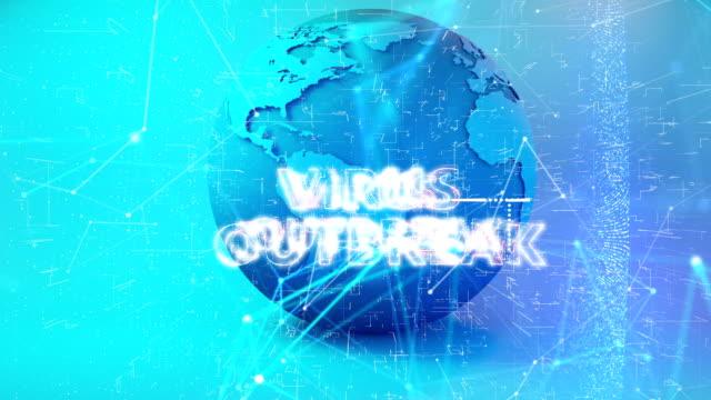 animazione del titolo dell'epidemia di coronavirus - vettore della malattia video stock e b–roll