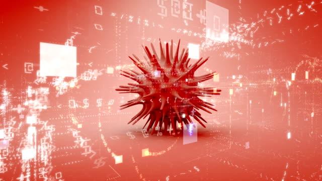 sfondo del titolo dell'epidemia di coronavirus - vettore della malattia video stock e b–roll