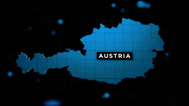 stockvideo's en b-roll-footage met 4k coronavirus uitbraak met austria map coronavirus concept - oostenrijkse cultuur