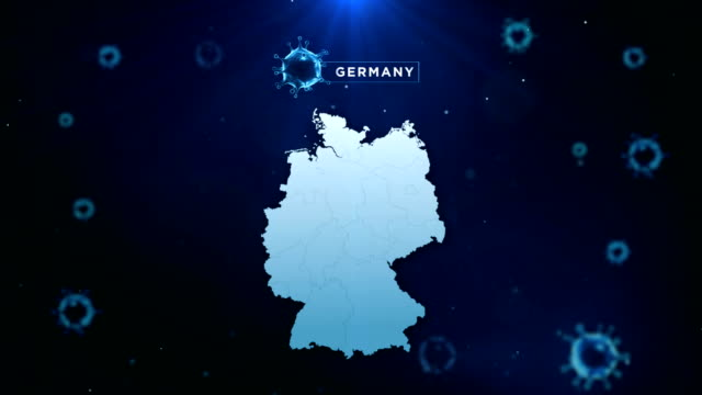 4k coronavirus outbreak with germany map coronavirus concept - flag stock videos & royalty-free footage