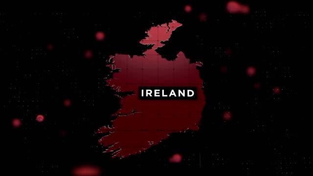 4k coronavirus outbreak with ireland map coronavirus concept - ireland stock videos & royalty-free footage