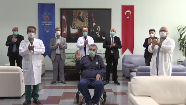 a coronavirus patient who received turkey's first blood plasma treatment responded positively to the convalescent plasma therapy and beaten the... - demobilisation stock videos & royalty-free footage