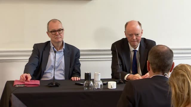 patrick vallance and chris whitty press conference; england: london: westminster: marylebone: academy of medical sciences: int sir patrick vallance... - pros and cons stock videos & royalty-free footage