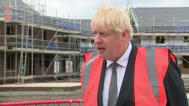 percentage of close contacts reached by track and trace system decreases england cheshire ext boris johnson mp greeting construction site staff... - other stock videos & royalty-free footage