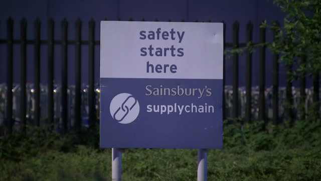 'pingdemic' self-isolation crisis: government extends workplace testing scheme in england; england: ext early morning sainsbury's delivery lorry... - groceries stock videos & royalty-free footage