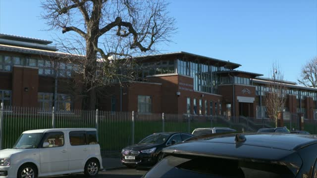 police break up 150-person wedding party at stamford hill school; england: london: stamford hill: ext gvs yesodey hatorah senior girls' school - itv london lunchtime news stock videos & royalty-free footage