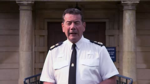 police forces plan to apply tougher attitude over easter weekend; england: northamptonshire: northampton: ext chief constable nick adderley press... - northampton stock-videos und b-roll-filmmaterial