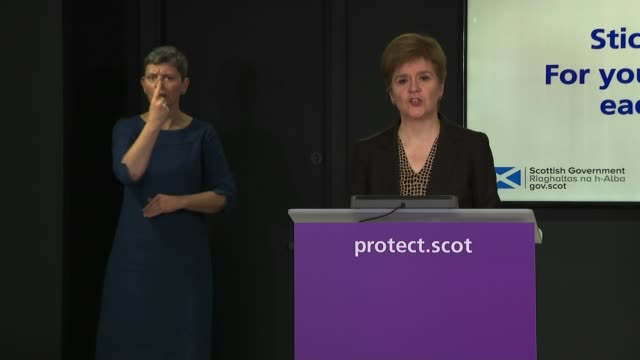 police investigation launched after mp margaret ferrier broke coronavirus guidelines; scotland: edinburgh: int nicola sturgeon msp press conference... - drinking water stock videos & royalty-free footage
