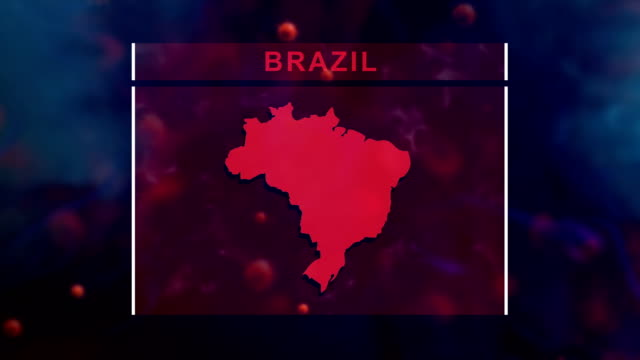 brazil coronavirus prevention, covid-19 with human cell - brazil stock videos & royalty-free footage