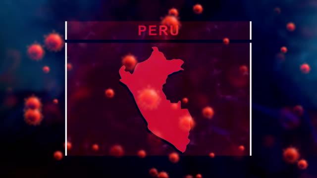 peru coronavirus prevention, covid-19 with human cell - peru stock videos & royalty-free footage