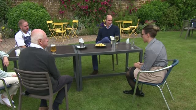 prince william visits norfolk pub ahead of reopening; england: norfolk: snettisham: the rose & crown: ext further shots of prince william, duke of... - drinking glass stock videos & royalty-free footage