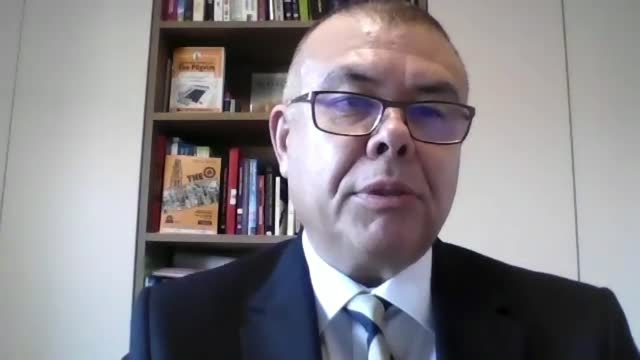 professor jonathan van-tam interview; england: int jonathan van-tam interview via internet sot. - i share the euphoria in that we now have 3 vaccines... - scrutiny stock videos & royalty-free footage